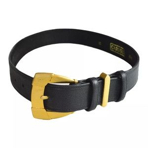 carlisle small women's vintage gold buckle belt